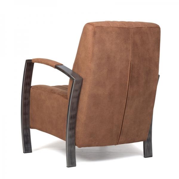 Fauteuil mees industrieel stalen frame pronk en van leeuwen for Industrieel fauteuil