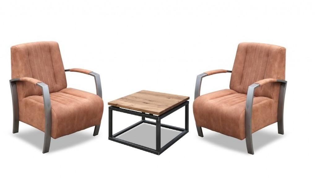 Fauteuil mees industrieel stalen frame pronk en van leeuwen for Eigentijdse fauteuil